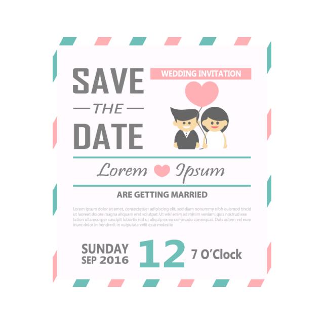 black and white wedding invitation template vector illustration