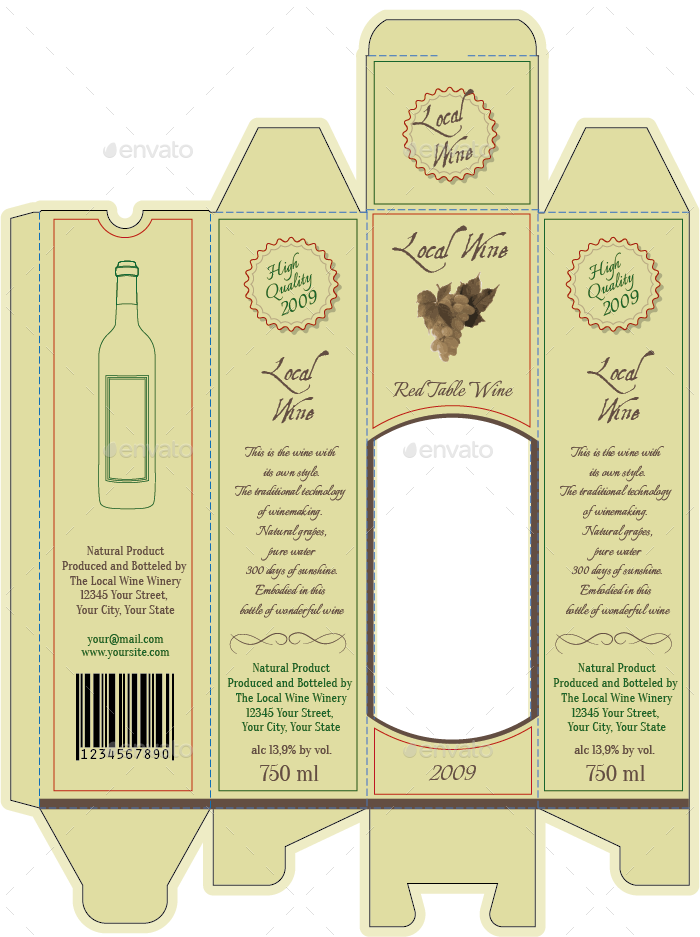 svg transparent stock wine packaging template