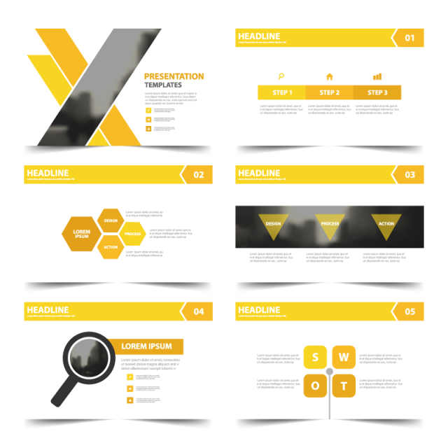 graphic black and white stock Vector templates presentation. Infographic elements png vectors