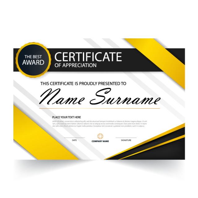 image transparent download Vector templates presentation. Elegance horizontal certificate with