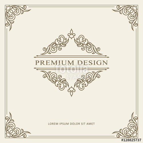 banner free download Vector certificate ornament. Vintage greeting card template