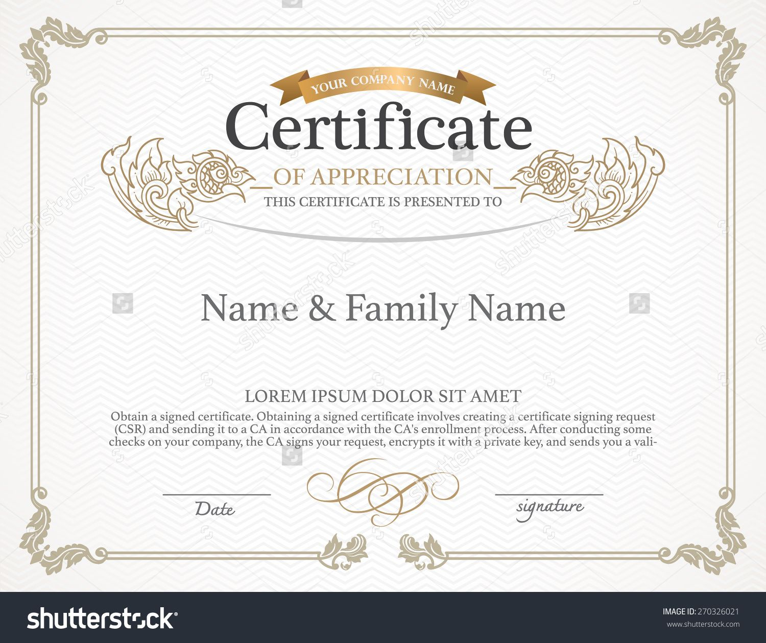 banner royalty free stock Certificate Design Template