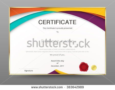 image freeuse stock Appreciation template diploma design. Vector certificate modern