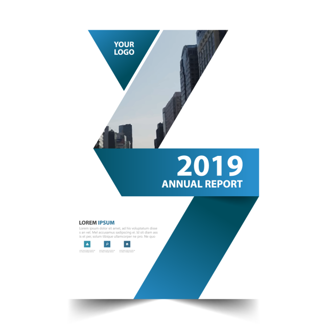 picture freeuse Blue annual report brochure design vector Template for Free Download