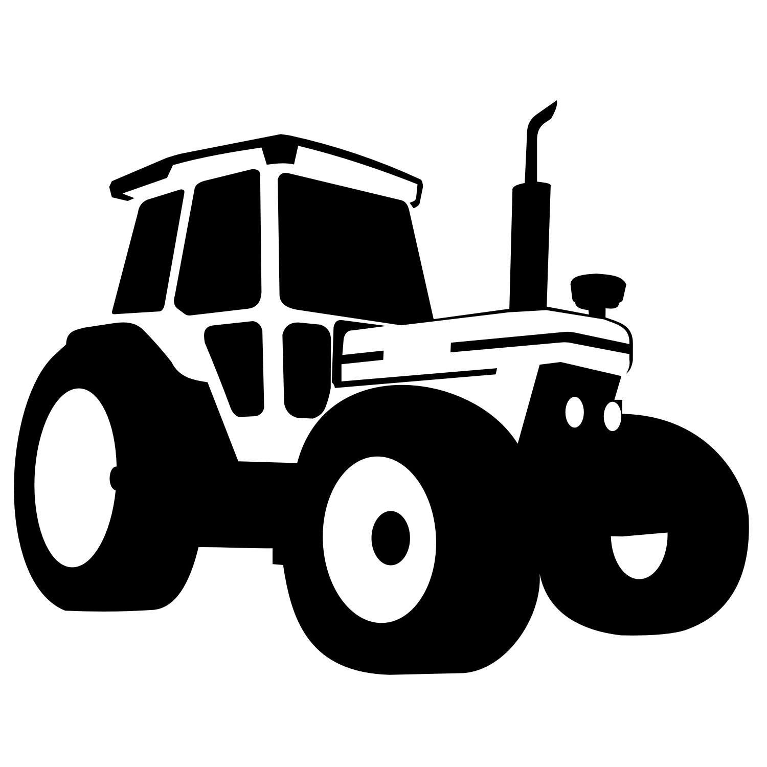 svg transparent download Vector tractor. For free use