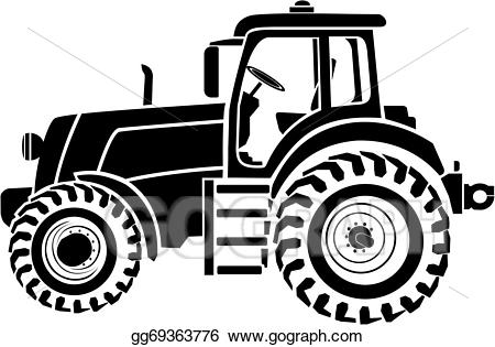 svg royalty free download Vector tractor. Clip art stock eps