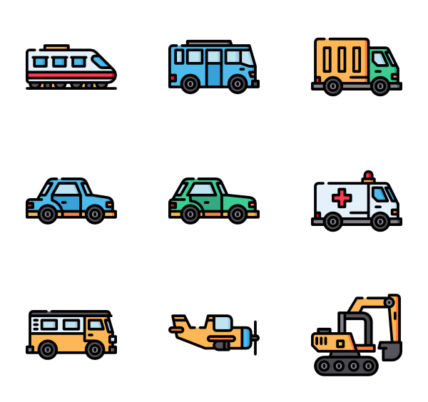 graphic royalty free download vector transport vehicle #118592496