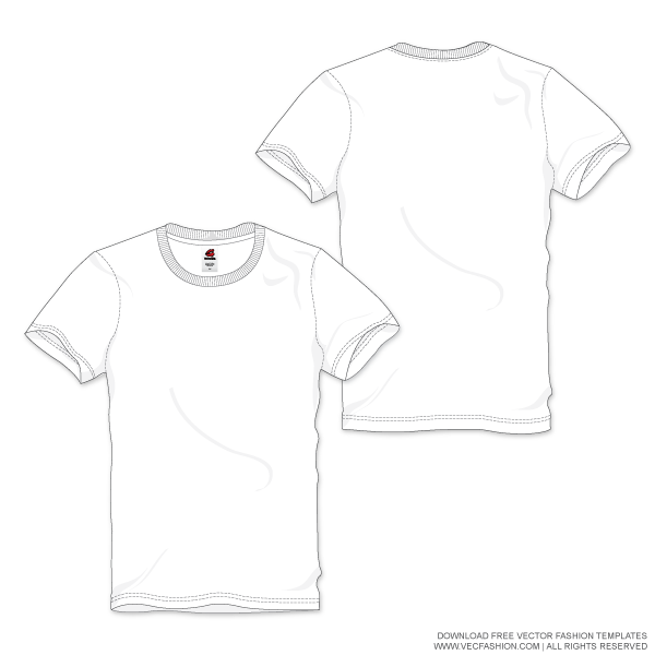 free Vector clothing spring. Men white round neck