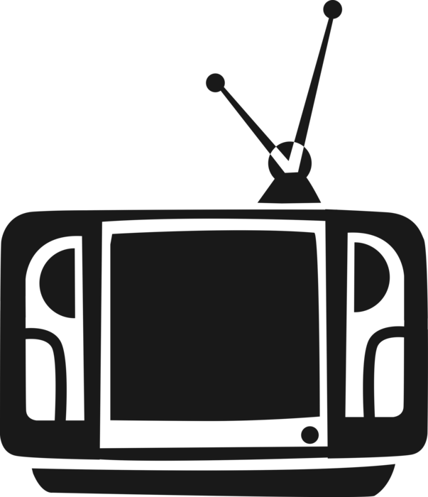 image royalty free Television or set with. Vector tv illustration