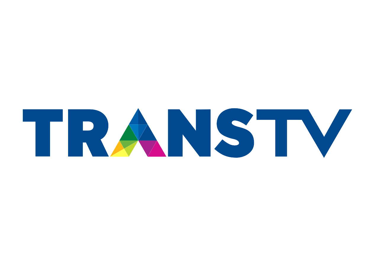 black and white Vector tv station. Trans logo television format
