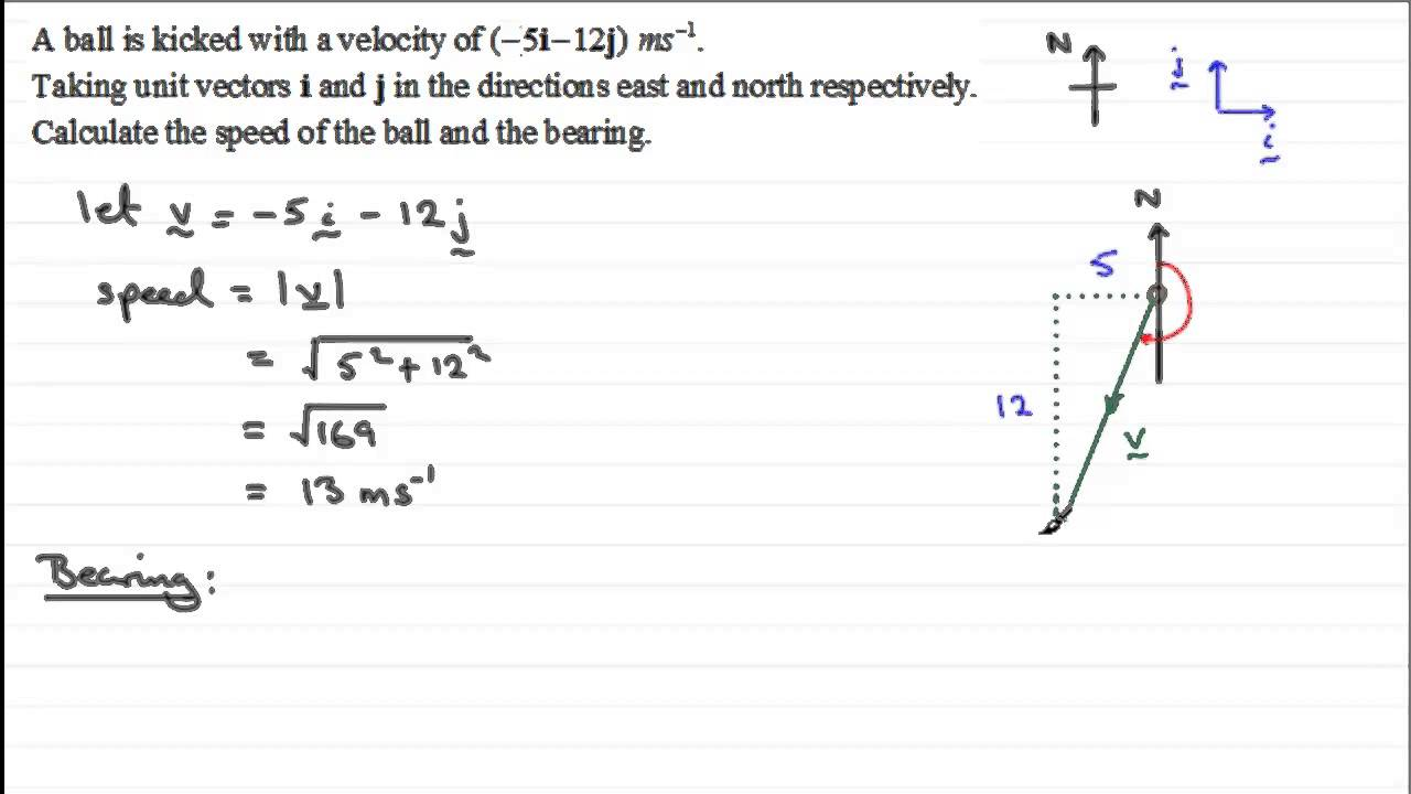 graphic freeuse Vector calculation velocity. Vectors calculating speed exercise
