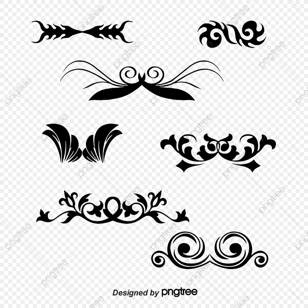 banner freeuse stock Vector vine simple. Hand painted gray pattern