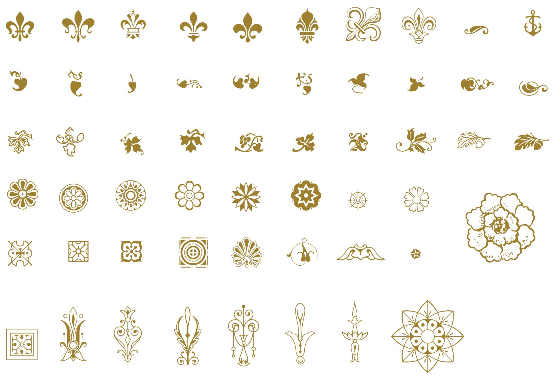 vector freeuse Vector dividers illustrator. Essential vintage pack ornaments