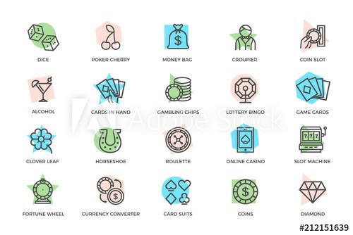 clip library stock Set of gambling and. Bingo vector wheel