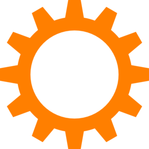 picture freeuse library Orange cog wheel clip. Vector wheels mechanical