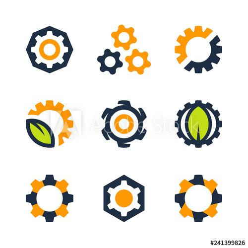 clip art free Gear mechanics and engineering. Vector wheels mechanical