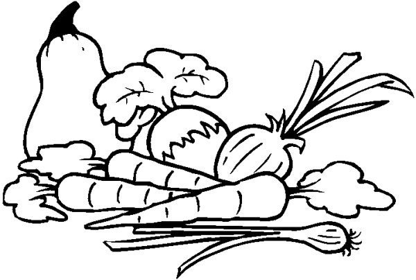 clipart freeuse stock Free drawing cliparts download. Vegetables black and white clipart