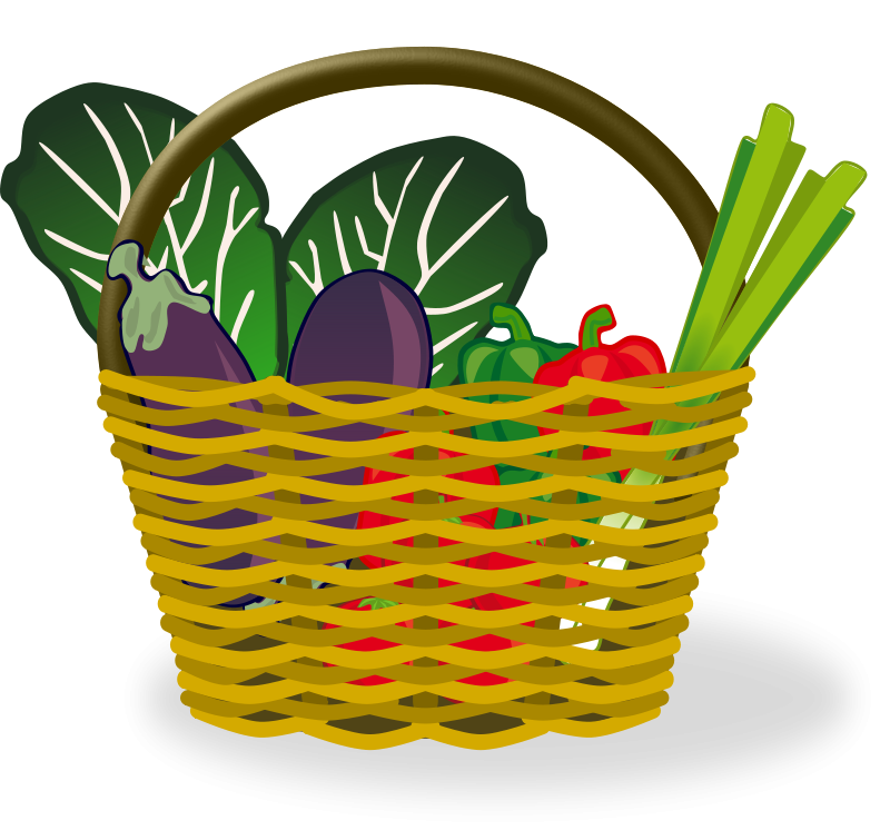 graphic royalty free library Vegetable clipart. Basket of vegetables