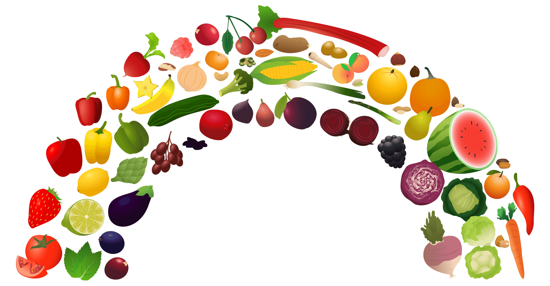 picture free Rainbow food Vegetable png