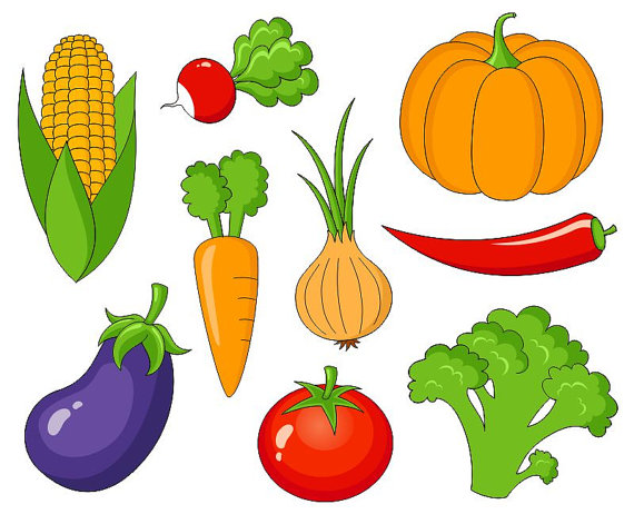 vector freeuse stock Vegetables clip art cute. Vegetable clipart