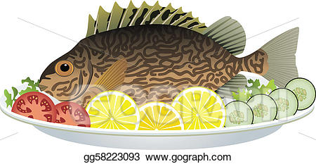 picture freeuse Vector stock cooked and. Veggies clipart fish