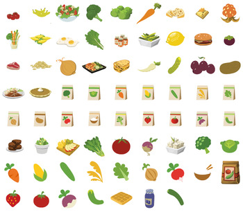 banner royalty free Fruit and food clip. Veggies clipart vegetable seed