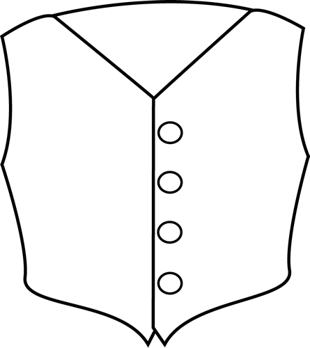 graphic black and white stock Black and white clip. Vest clipart