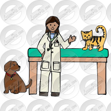 svg black and white download Vet Picture for Classroom