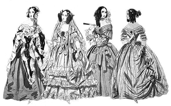 svg royalty free download Clip art of victorian. Bridal clipart vintage design fashion
