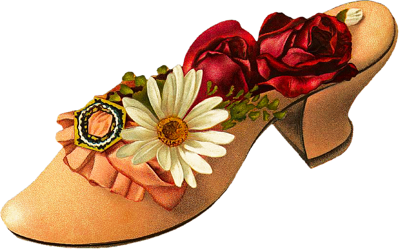 svg royalty free library Victorian clipart. Free shoe