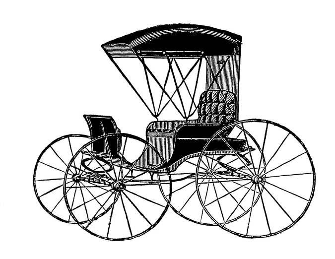 svg transparent Victorian clipart.  charriot era free