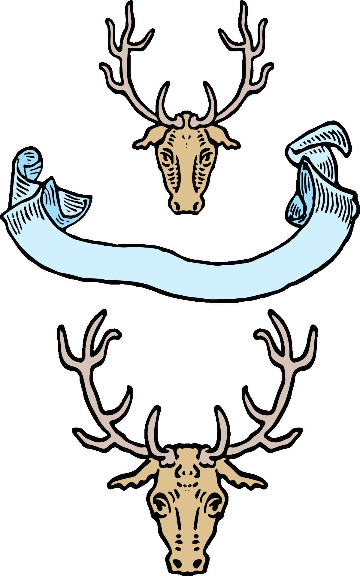 jpg free download Vintage deer image freebie. Western flourish clipart