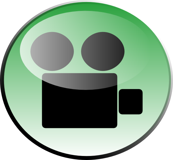 clipart black and white Green Video Icon