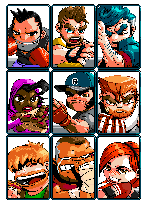 picture freeuse River city ransom underground. Video game box art clipart