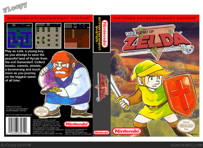jpg library stock The legend of zelda. Video game box art clipart