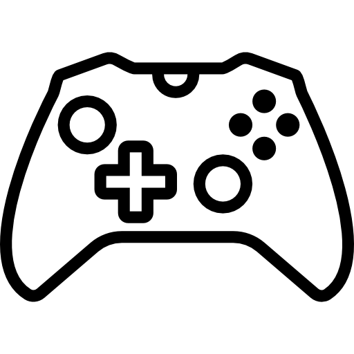 vector royalty free library Icon page png svg. Video game controller clipart black and white