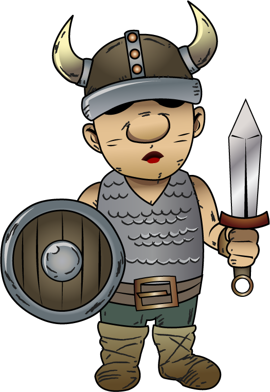 banner transparent library Viking clipart. Funny