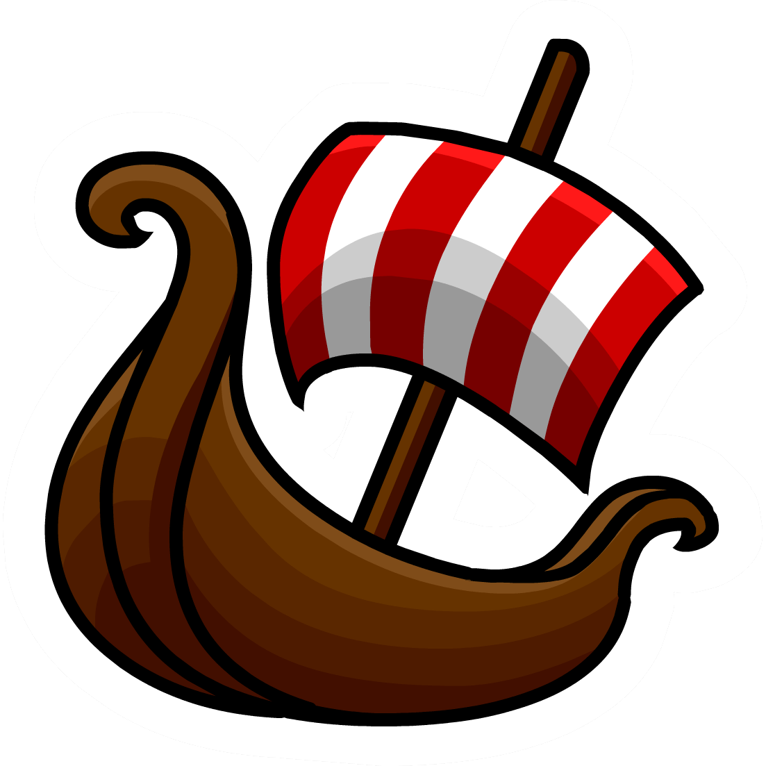 png royalty free stock Boat sticker transparent png. Viking clipart