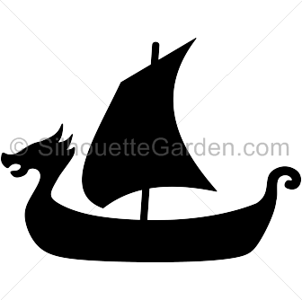 clip library Viking clipart black and white. Ship silhouette clip art