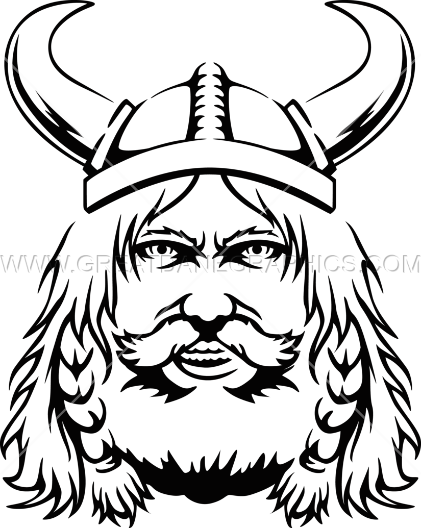 jpg transparent library Production ready artwork for. Viking clipart black and white
