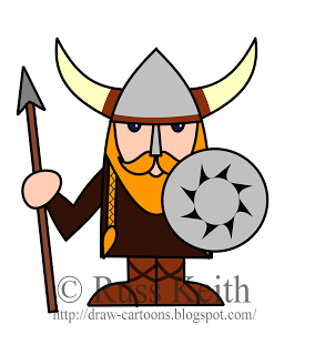 image freeuse library Vikings drawing cartoon. How to draw a