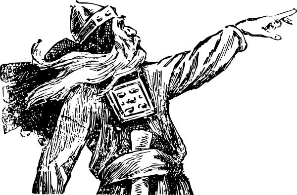 picture black and white Viking Pointing Clip Art at Clker