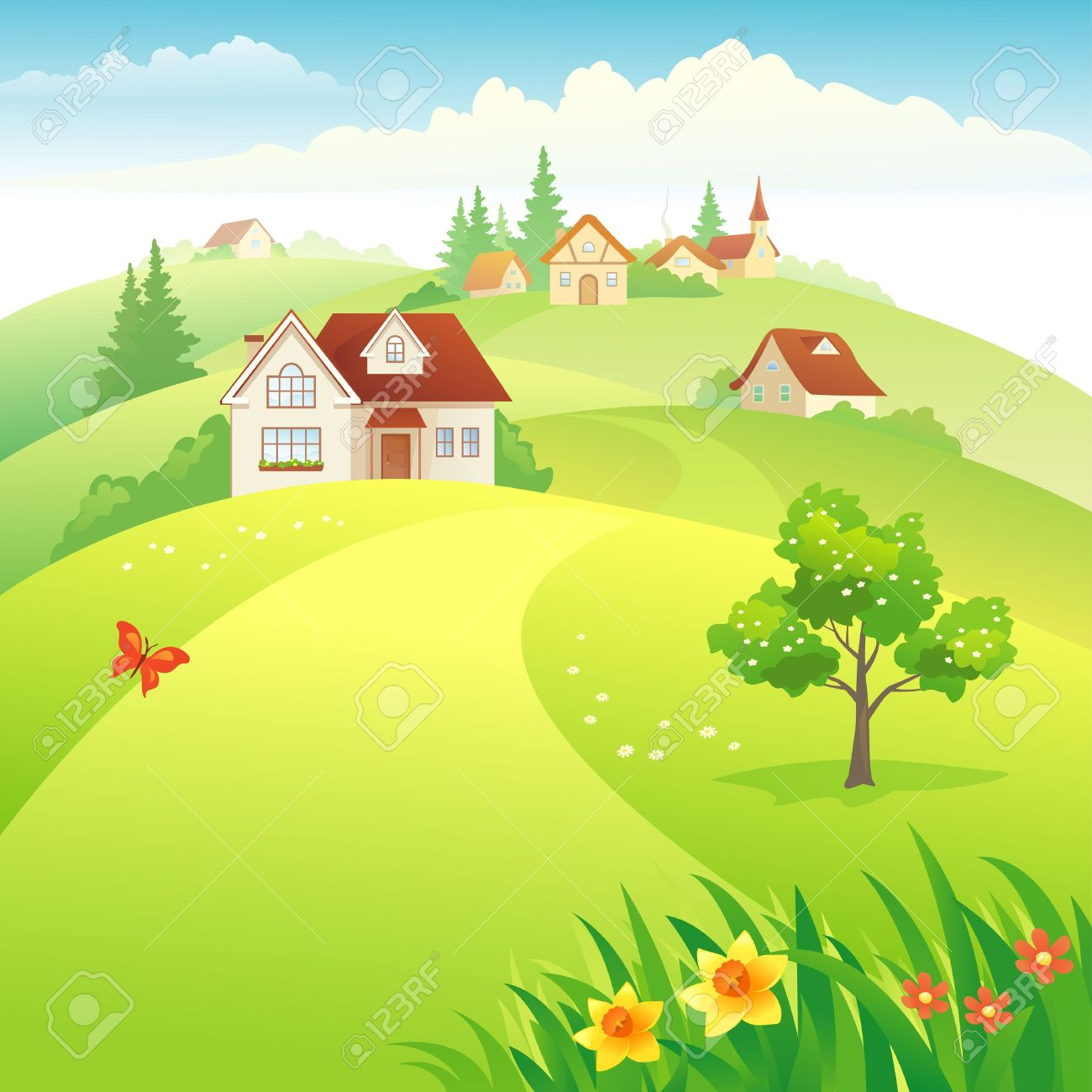 picture royalty free download Images portal . Village clipart