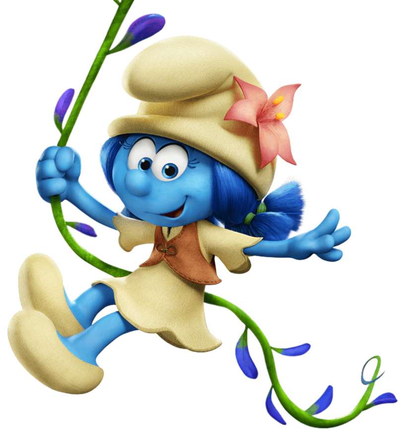 banner black and white Village clipart. Lily smurfs the lost