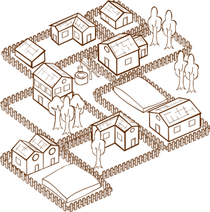 clipart black and white library Village clipart. Clip art at clker