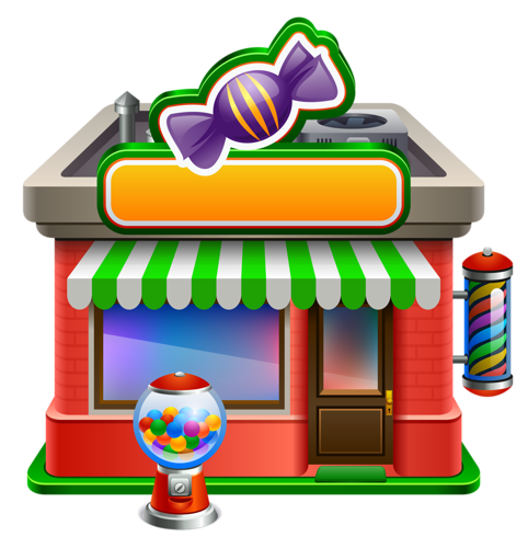 clipart freeuse library Supermarket clipart retail.  candy store clip