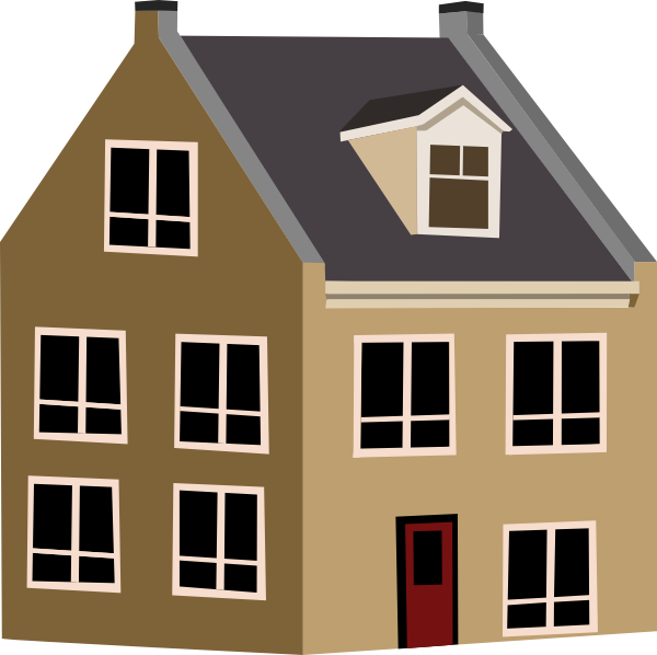 image royalty free library Village House Clip Art at Clker