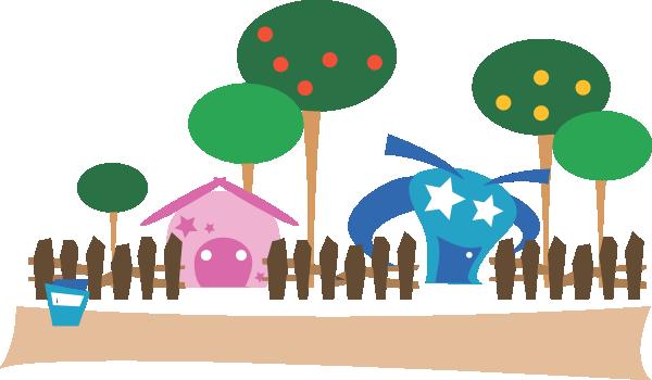 vector royalty free library Cartoon Village Clip Art at Clker