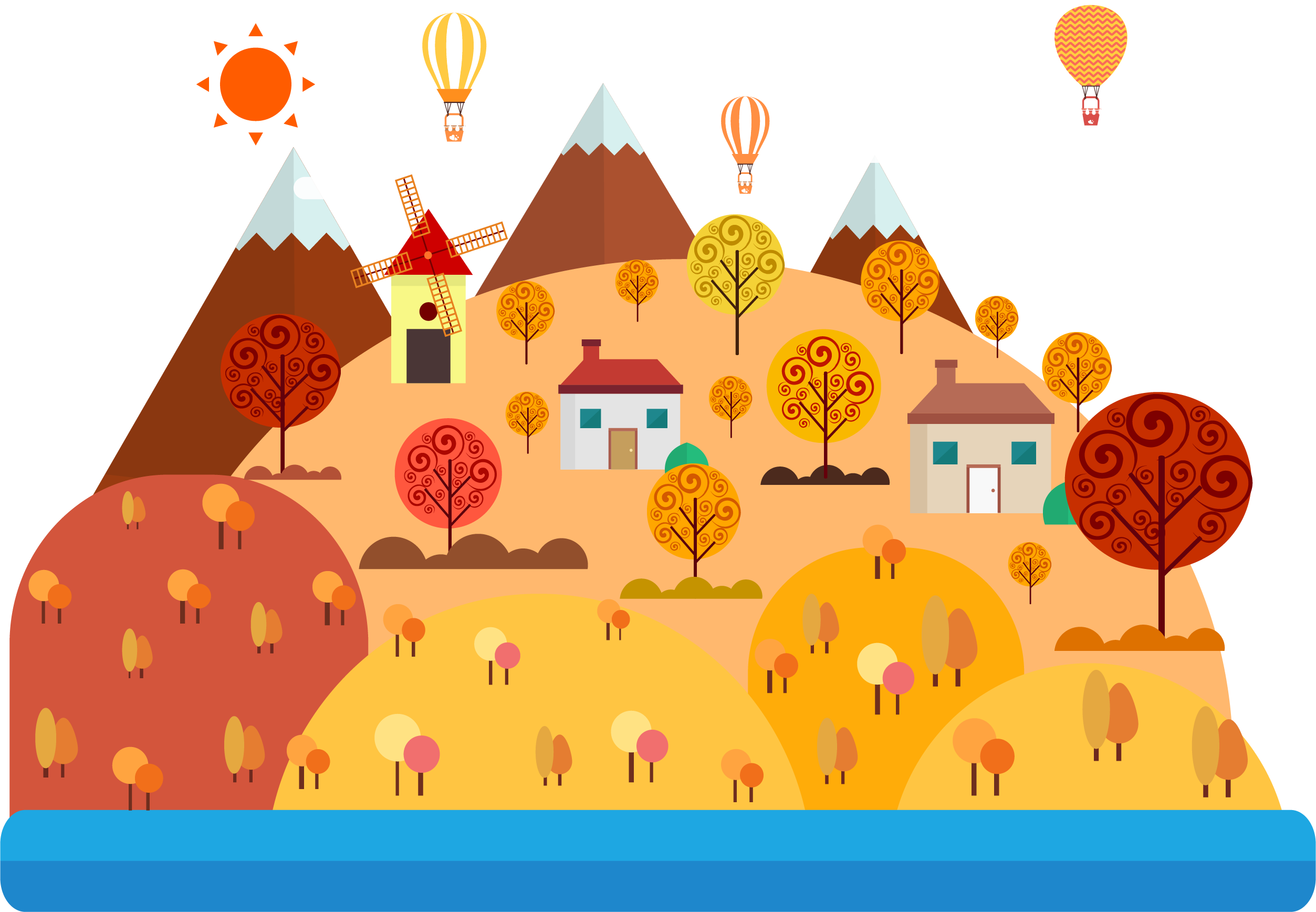 clipart freeuse library Drawing Cartoon Landscape Illustration