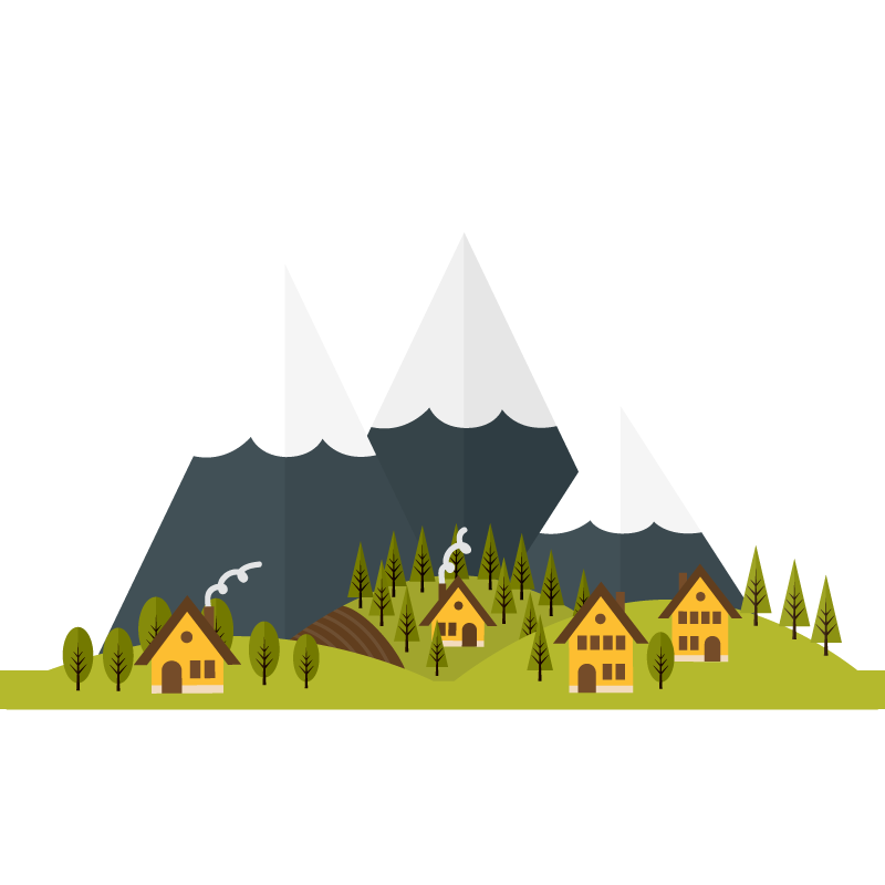 transparent stock Deep in the mountains vector